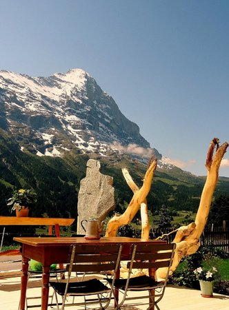 Cafe 3692: The Eiger from the terrace