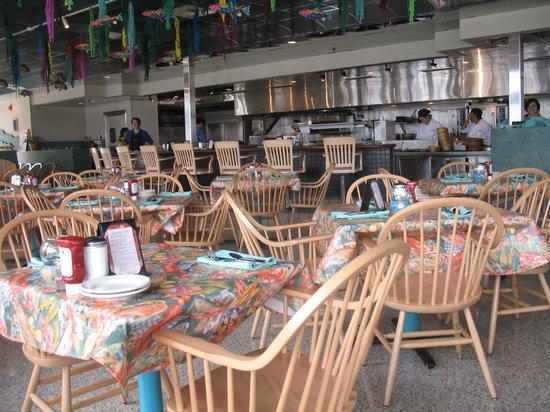 Anthony's Beach Cafe: Inside the restaurant