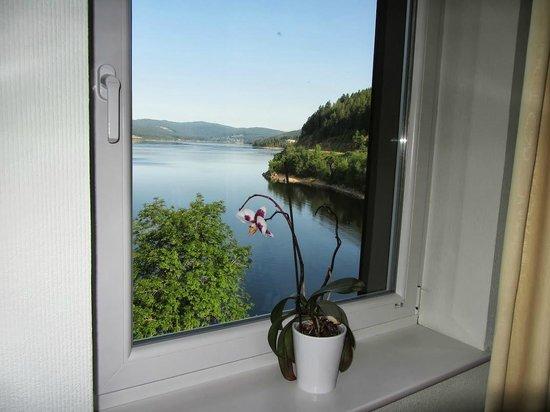 Seehotel Hubertus: Вид из окна
