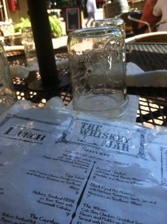 The Whiskey Jar: mason jar-nice touch.