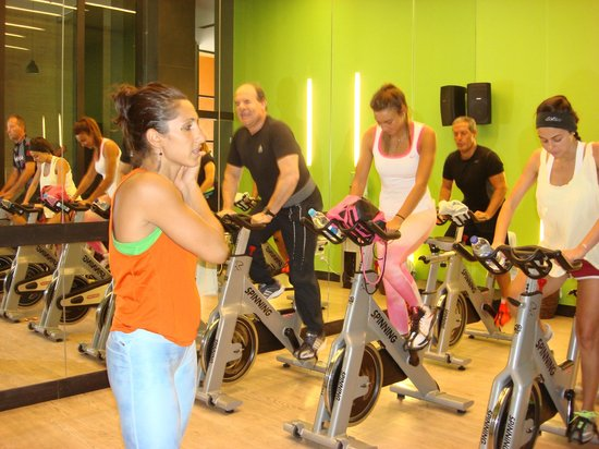 spinning class with Nirvana, GM Lax gym