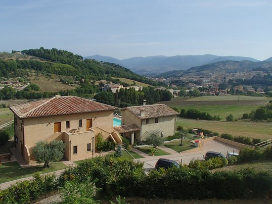 Il Sogno : View of the B&B from the hill revealing the surrounding landscape
