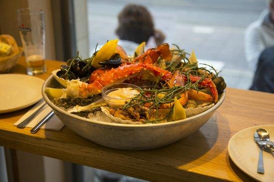 English menu foto van the seafood bar amsterdam for Seafood bar van baerlestraat amsterdam