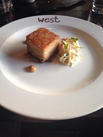 West Restaurant : Pork Starter.