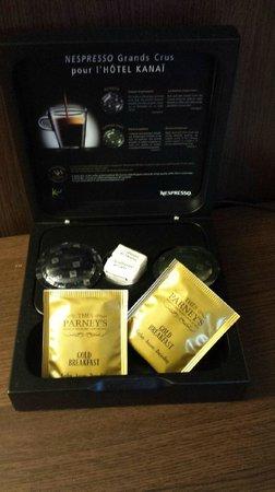 Kanai Hotel : Kit d'accueil Nespresso