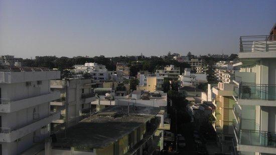 Hotel Athena: Вид с балкона