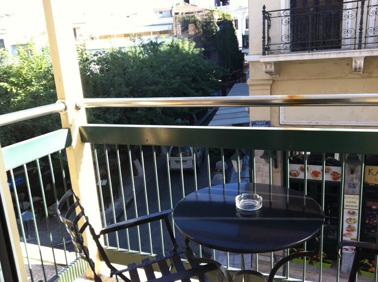 Adrian Hotel: Vista dal balconcino della stanza