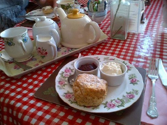 Times Gone by Cafe: Best scone and cup of tea!