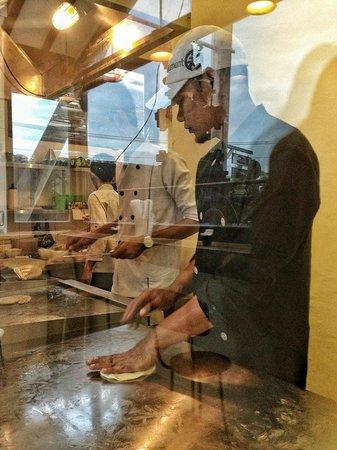 Roti Canai: The chef..