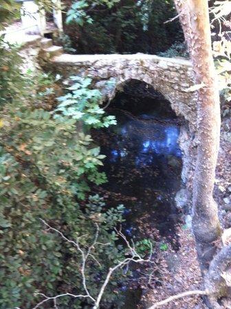 Water Mills Milopotamos : ponticello sul rio
