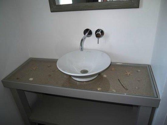 Maison d'Hôtes Près des Dunes : Chambre OYAT - détail salle de bains