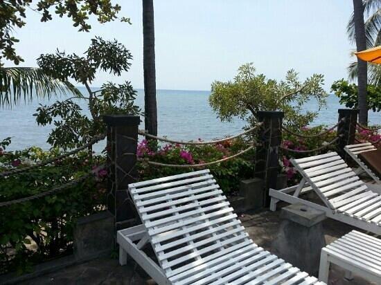 Nugraha Lovina Seaview Resort : pool's lazy chair
