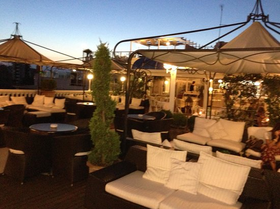 Hotel Italia Palace: Terrazza al tramonto