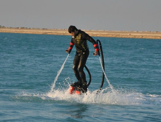 Albatoul Marine: Flyboarding is like learning how to walk! Just find your balance and you're good to go!