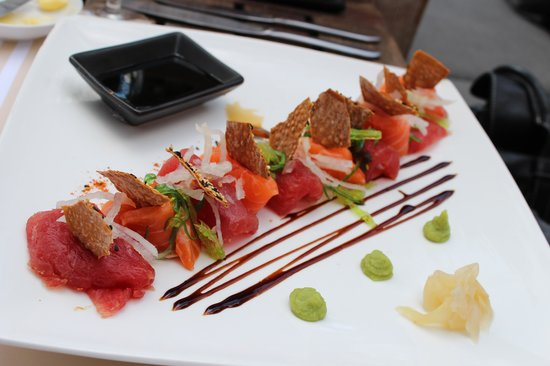 Brasserie Maritime: Sashimi zalm/tonijn