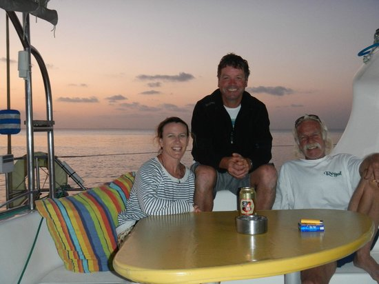 Sailaway Dhow Safaris: Us with Norman on the Cataraman