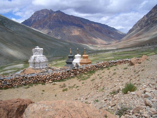 Zanskar Valley: Stupa's  Dotted the landscape. Located at every entry to villages