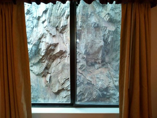Mt. Rushmore's Washington Inn & Suites: This was we could see out the window....rock.