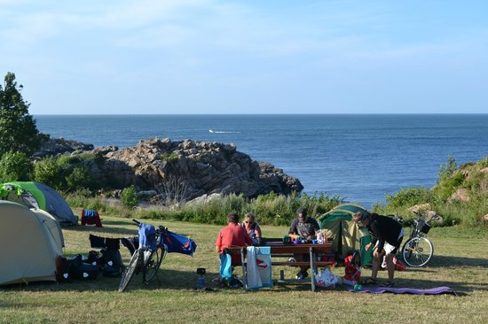 Gudhjem Camping : Dinning place