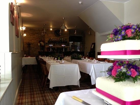 Anglers Arms: wedding in the restaurant