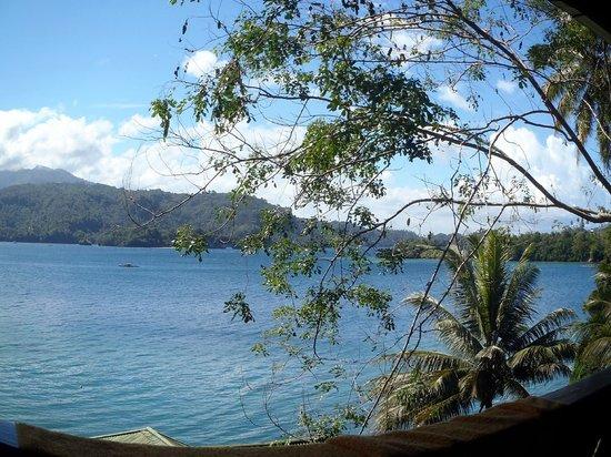 Bastianos Lembeh Dive Resort : la vista dal balcone