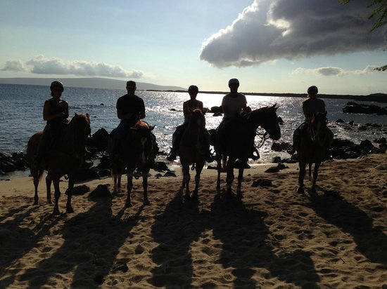 On the Beach ride with Makena Stables