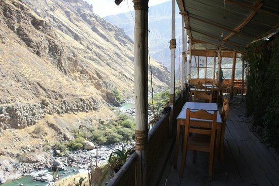 Llahuar Lodge: Restaurant area