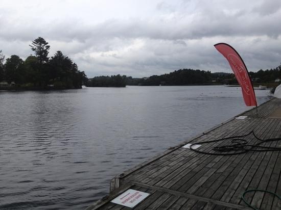 Nidelv Brygge og Camping: uitzicht vanaf de kade over Nidelv