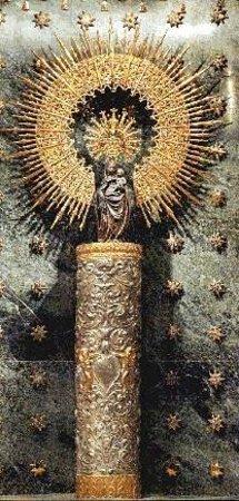 Basilica de Nuestra Senora del Pilar: Virgen del Pilar sin manto