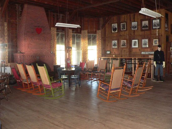 The 8th Maine Regiment Lodge and Museum: The main hall ... sometimes there are events here.