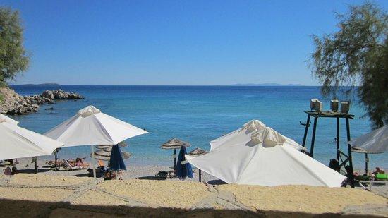 Glicorisa Beach: spiaggia vista dal bar