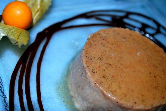 Italie là-bas ! : Crème caramel aux marrons avec son coulis de chocolat