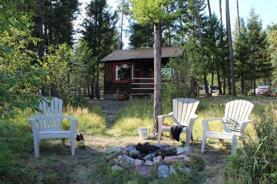 Holland Lake Lodge : The Griz Den from the lakefront