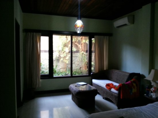 Three Brothers Bungalows: view to outdoor bathroom