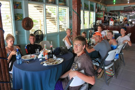 Lunch At The Happy Lobster In Caye Caulker Belize Picture Of