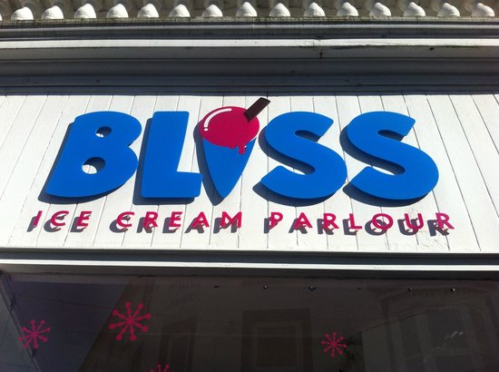 Look out for the Bliss Ice Cream Parlour sign in Sandown!