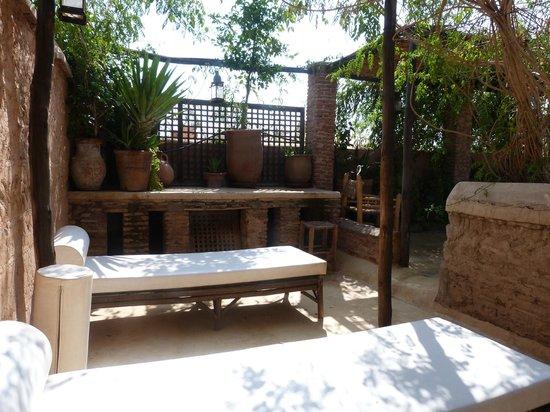 Riad Tibibt: Août 2013.. La terrasse.