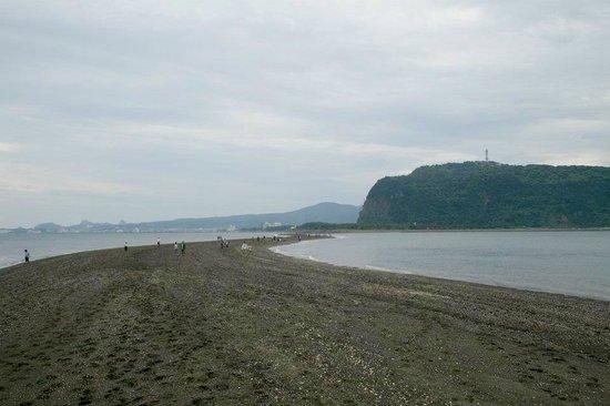 Chiringashima Island: From the Island, looking towards Ibusuki and the sandbar.