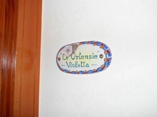 Le Ortensie: il nome della nostra camera