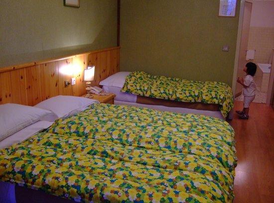 Hotel Pontechiesa: 客室(3ベッドにしては手狭)