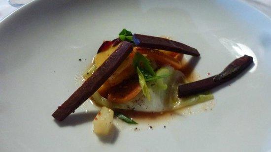 Le Belvedere: Légumes racines.