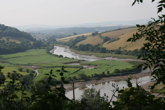 Sharpham Wine and Cheese: Blick über den Dart nach Totes