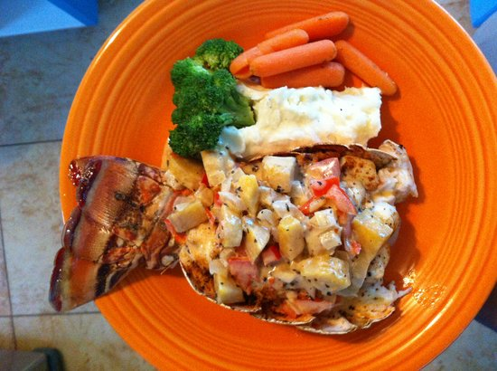 Pascal's at Cape Eleuthera: lobster!