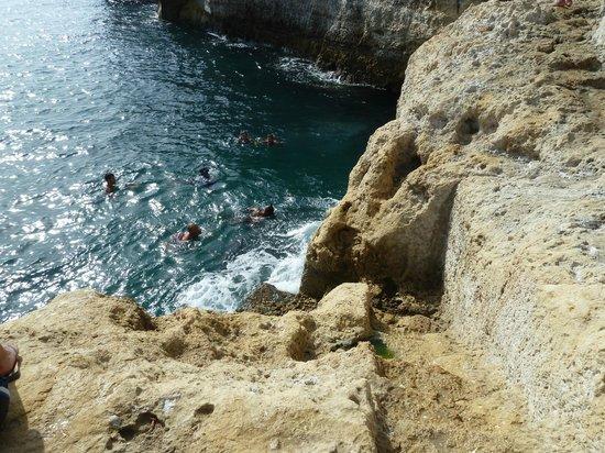 Algar Seco: rock divers
