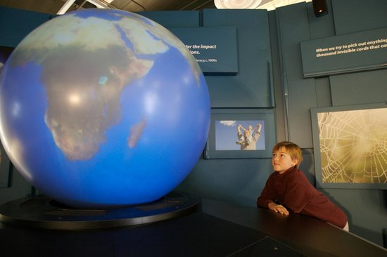 Roseville Utility Exploration Center: interactive Video Globe display