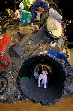Roseville Utility Exploration Center: Wasteful World interactive exhibit