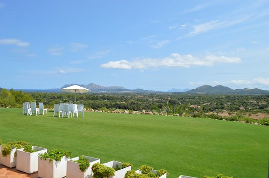 Golf Pollenca: view from the restaurant terrace