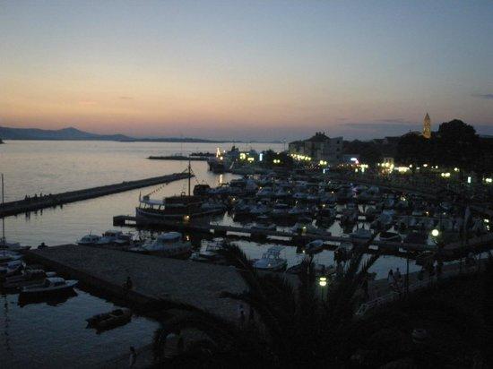 Hotel Ilirija : View from the balcony at dusk