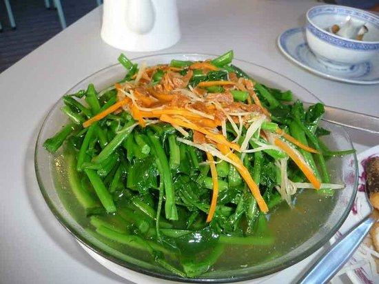 China City Licensed BYO Restaurant : Stir fry fresh wild watercress from Mirror Lake
