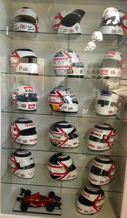 The Mansell Collection: Part of the collection of Helmets as worn by Nigel